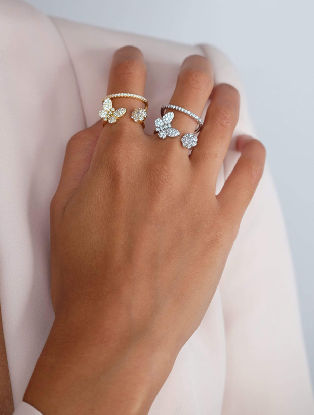 Saffy Jewels Rings Butterfly Double Band