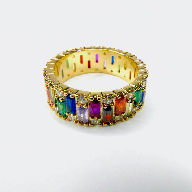 Saffy Jewels Rings Rainbow Eternity Ring 6 / Colorful RGM05100_1