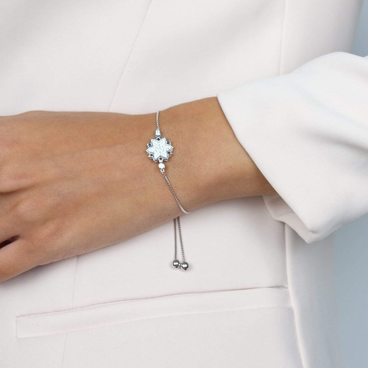 "Saffy Star Bracelet White / 8"" Adjustable BGW025030400_21"