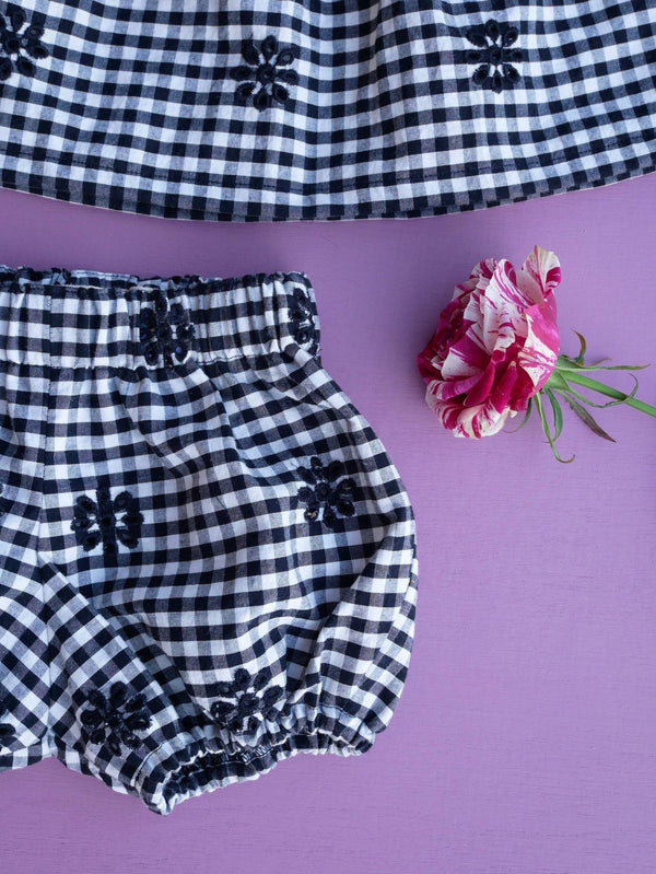 Top & bloomer LILAS vichy - 6M