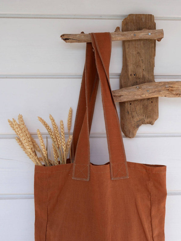 Tote bag CANOPUS Lin rouille