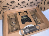 Premium Craft Beer Glass Gift Set Libbey Craft Beer Glass 16OZ with Biltong