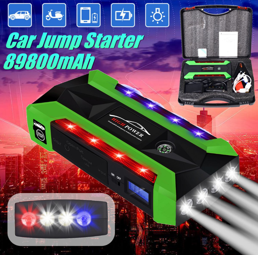 SAFETFIRST™ Emergency Battery Jump Starter and External Battery Charger Supply