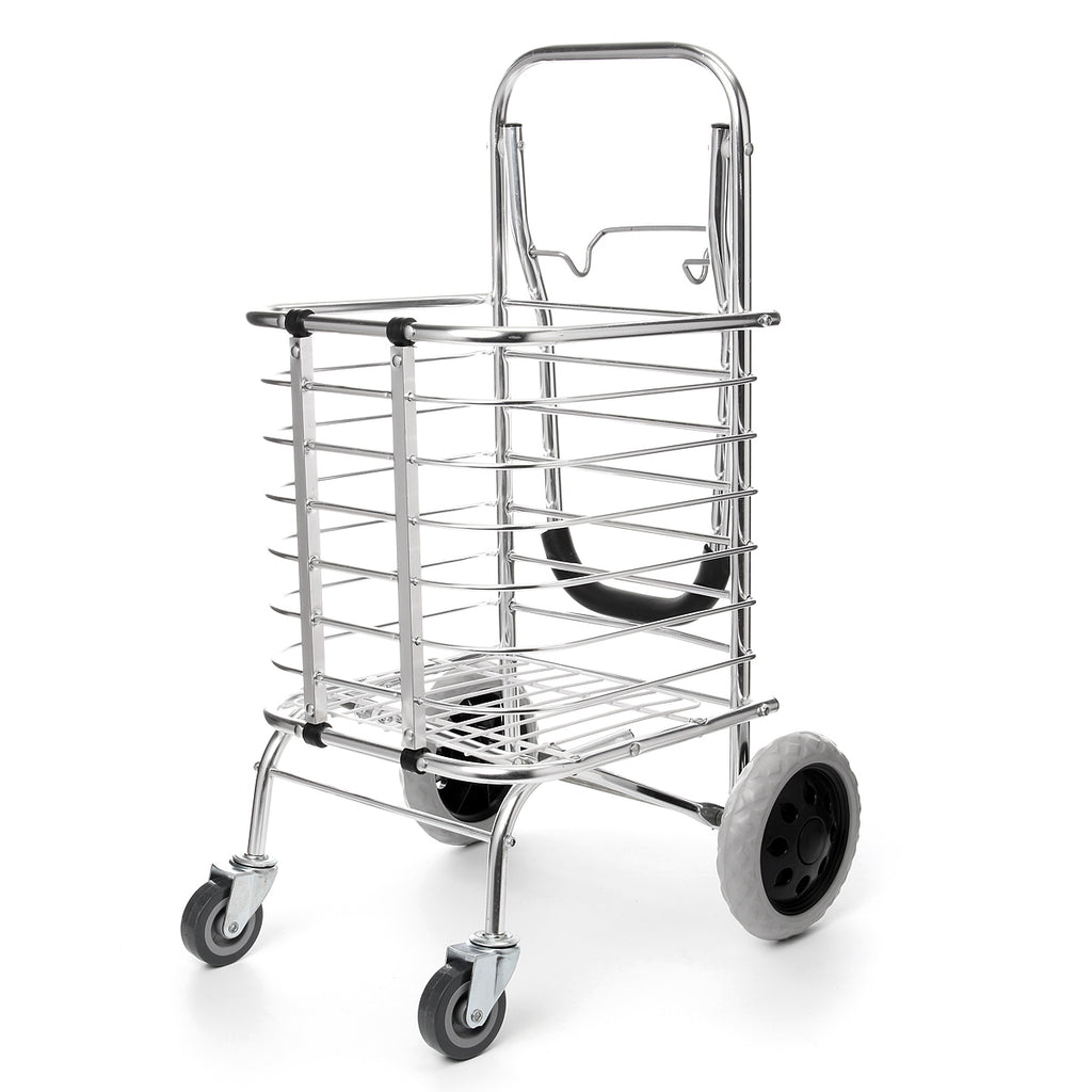 FOLDACART™ Portable Grocery Shopping Cart Foldable Heavy Duty Personal Rolling Utility Cart With Wheels