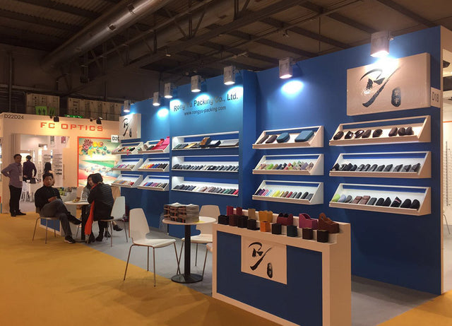 Exhibition booth of spectacle cases