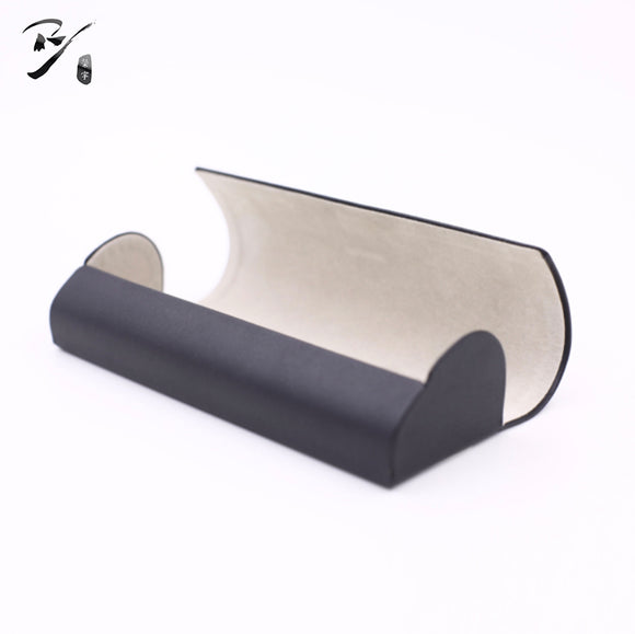 Back opening taper shaped handmade glasses case