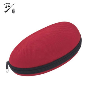 Big oval shaped EVA glasses case with bottom zipper