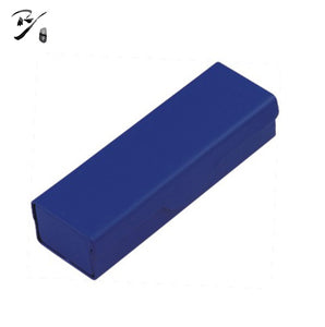 Blue rectangle glasses case