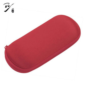 Oval flat EVA glasses case with zipper