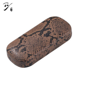 Oval hard shell glasses case