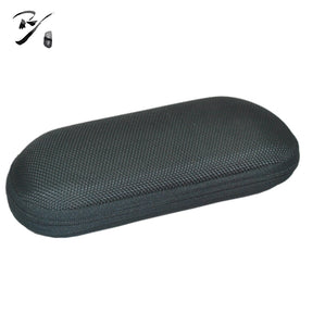 Oval shaped EVA glasses case with zipper