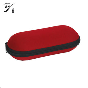 Soft oval shaped EVA glasses case with zipper