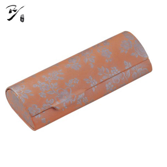 Spectacle case with flower pattern