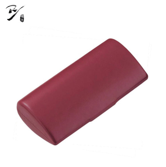 Taper shaped hard shell glasses case with handle