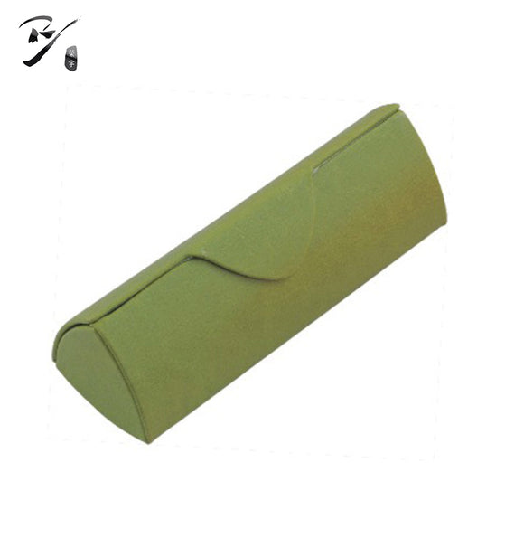 Triangular green glasses case