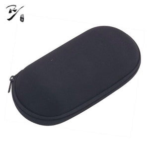 Wide oval EVA glasses case with zipper