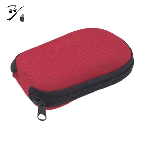 Wide rectangular EVA glasses case with zipper