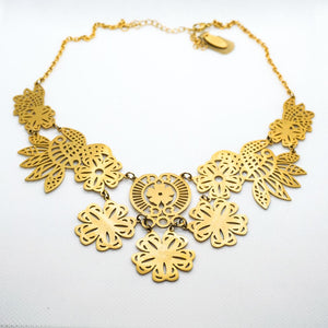 Farmhouse Big Gold Necklace