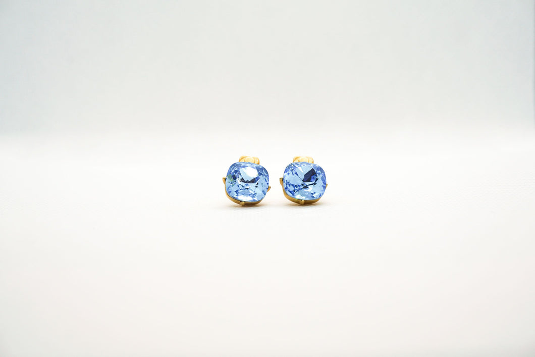 Farmhouse Light Blue Diamond Earrings