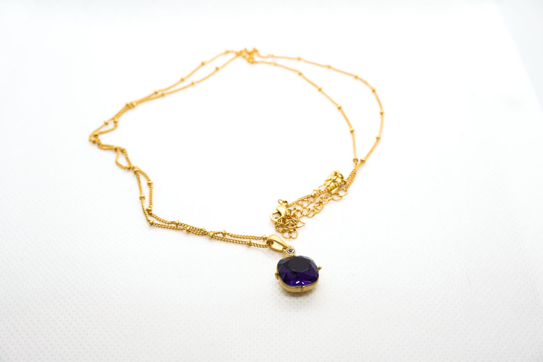 Farmhouse Purple Diamond Necklac