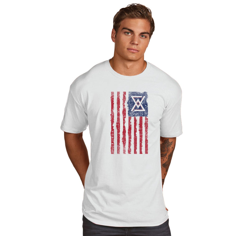 "Visible Attitude ""RWB Flag"" T-Shirt - Suited Poker Gear"
