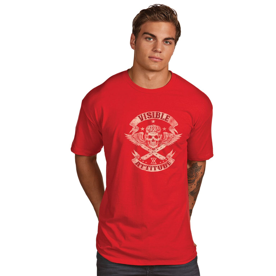 "Visible Attitude ""Skull Snowboard"" T-Shirt - Suited Poker Gear"