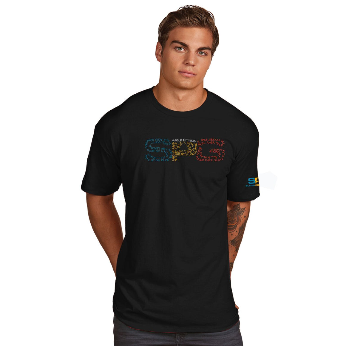 "SPG ""Poker Terms"" T-Shirt - Suited Poker Gear"