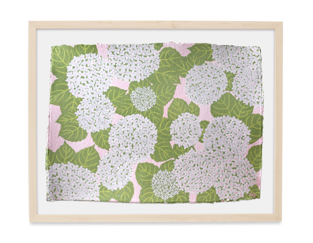 Hydrangeas in White - 30x22