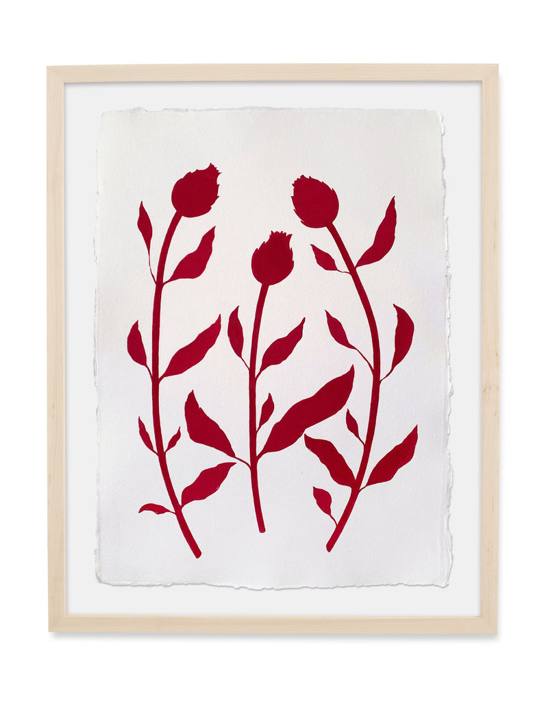 Thistles in Red - 22x30