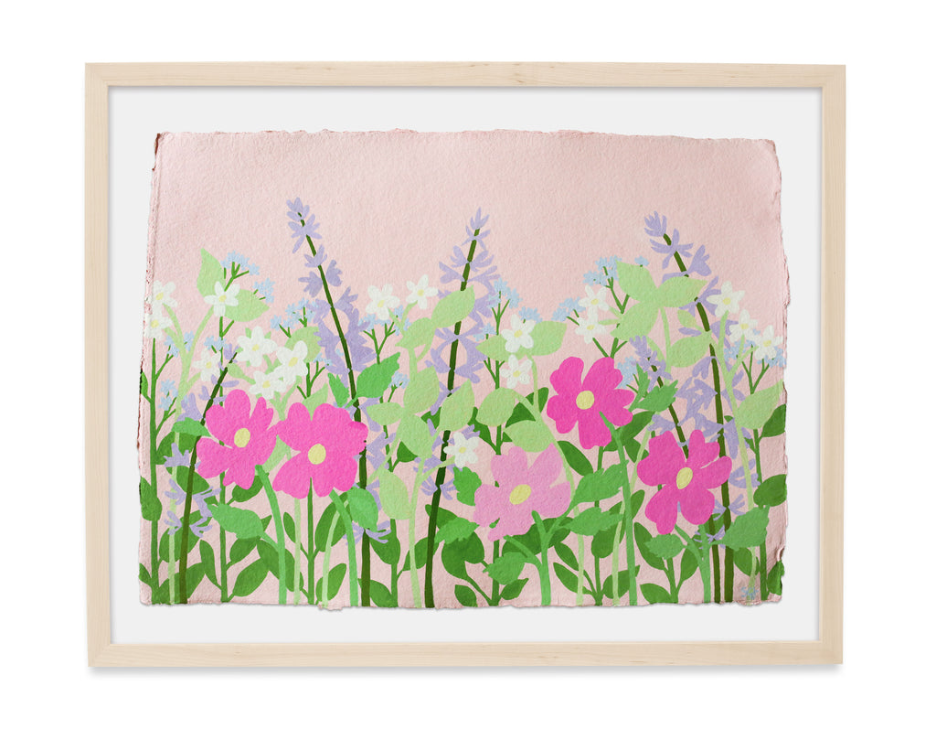 WildFlowers in Pink - 30x22