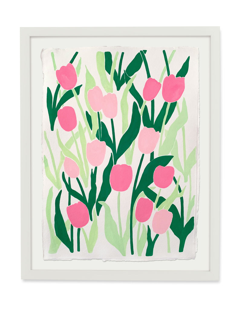 Tulips in Pink - 22x30