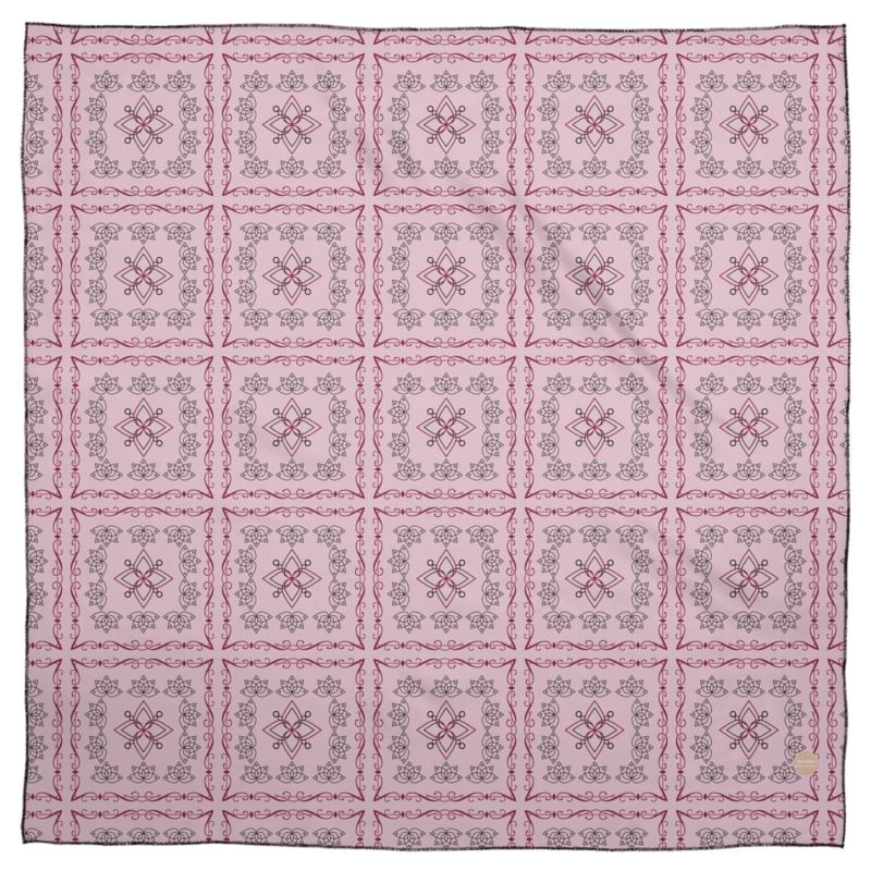 Pattern in Pink Scarf