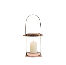 Load image into Gallery viewer, Nordic Lighthouse Rose Gold Candle Holder