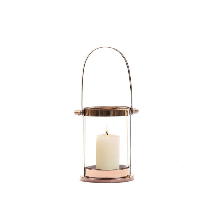 Nordic Lighthouse Rose Gold Candle Holder