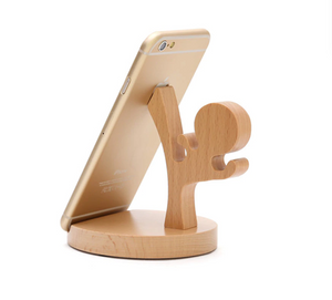 Kung Fu Unique Wooden Cell phone Holder Stand