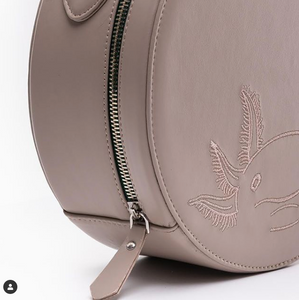 Axolotl Vegan Leather Round Shoulder Bag