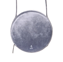 Load image into Gallery viewer, Vegan Metallic Velvet Round Shoulder Bag