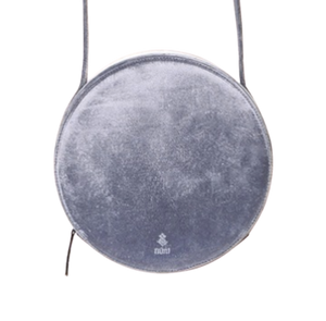 Vegan Metallic Velvet Round Shoulder Bag