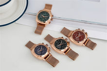 Load image into Gallery viewer, Women Watch Magnetic Stainless Steel in Rose Gold