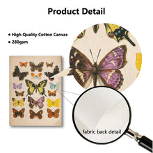 Load image into Gallery viewer, Butterflies Retro Poster Wall Art Prints on Canvas