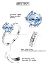 Load image into Gallery viewer, Elegant Created Sky Blue Topaz Rings and Earrings Fine Jewelry Sets