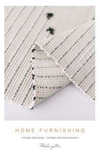 Hand Woven made Rug of 100% Natural Cotton Fiber with Non-Slip Pads
