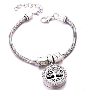 Essential Oil Diffuser in zircon Locket Bracelet