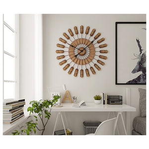 60cm European Design Hand Coloring Iron Wall-Mounted Clock