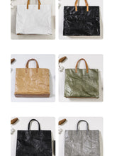 Load image into Gallery viewer, Tyvek Kraft Paper Tote bag