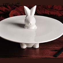 將圖片載入圖庫檢視器 Bunny Plate Stand for Easter Season