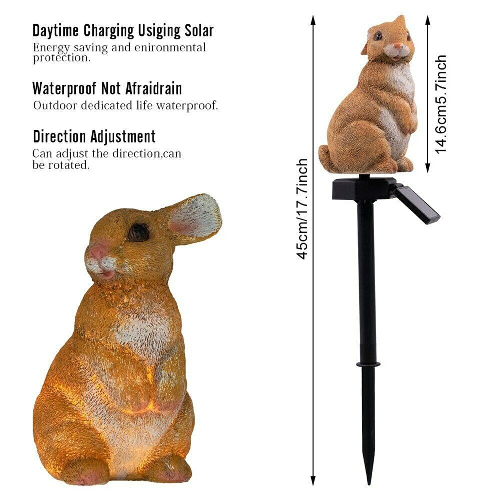 Solar Powered Bunny LED Light for Outdoor