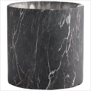 Deluxe Black Marble Ceramic Multi Purpose Pots