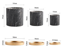 Load image into Gallery viewer, Deluxe Black Marble Ceramic Multi Purpose Pots