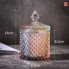 Load image into Gallery viewer, Colorful Crystal Like Glass Jar